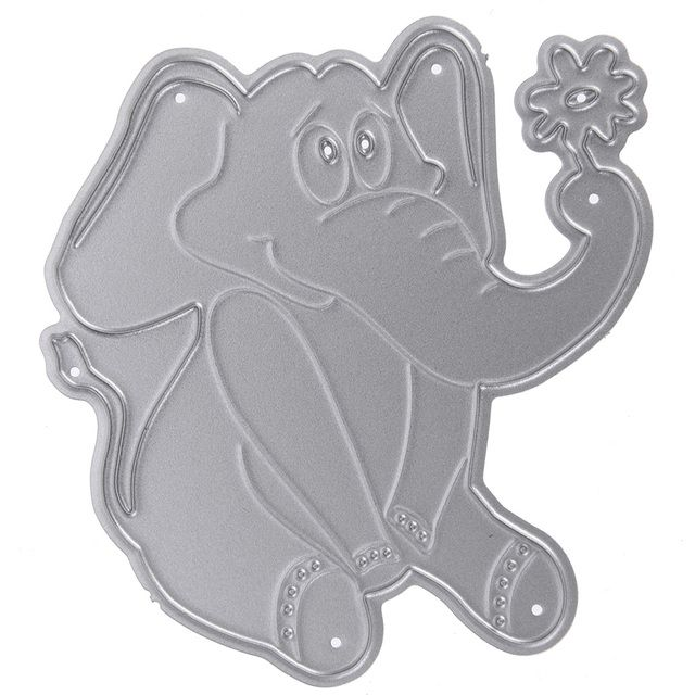 Metal Cutting Dies Elephant Stencil Scrapbooking Dies Cutters DIY Photo Album Scrapbooking Embossing Folder Paper Card Craft