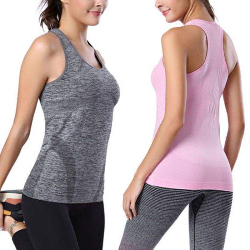 Sports Top Women's Tank Tops Quick Dry Breathable Sleeveless Running Clothes Gym Fitness Sexy Vest Shirts