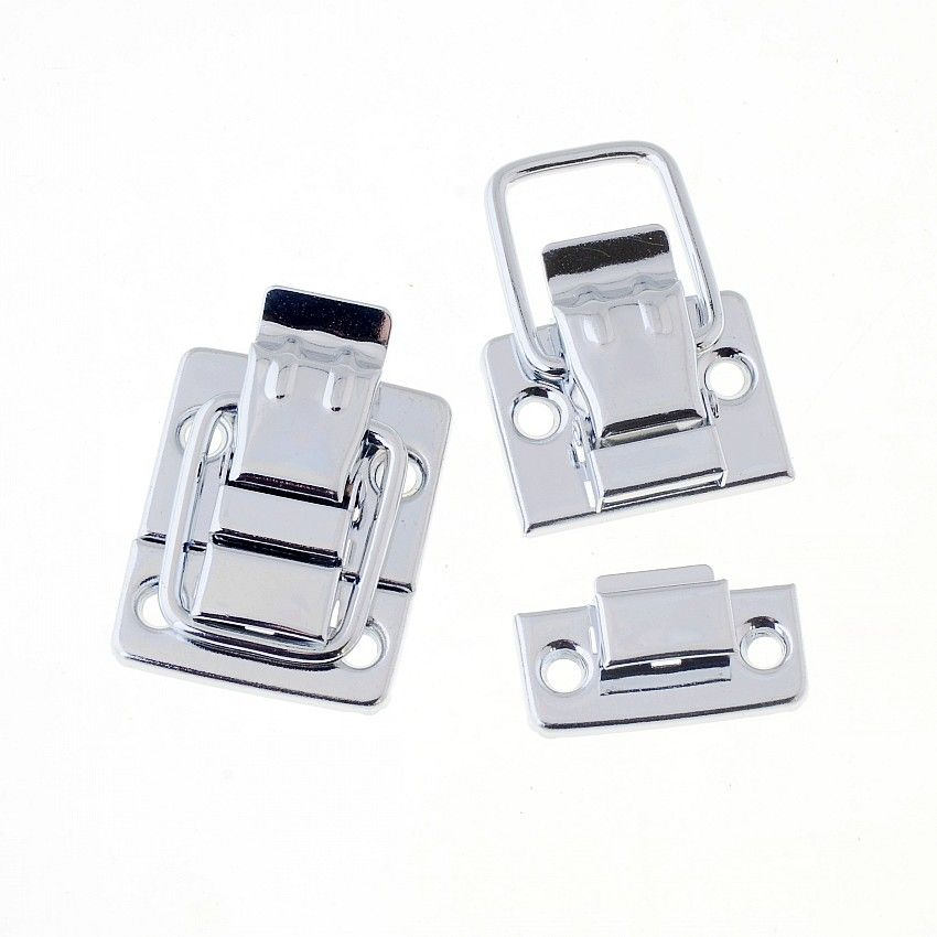 Free Shipping-1 Set Toggle Catch Suitcase Case Box Trunk Box Silver Tone 43x30mm F1405