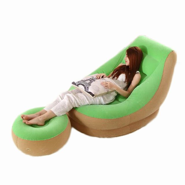 Lazy sofa single small inflatable sofa bed bedroom balcony nap creative leisure hostel lazy chair 1pc