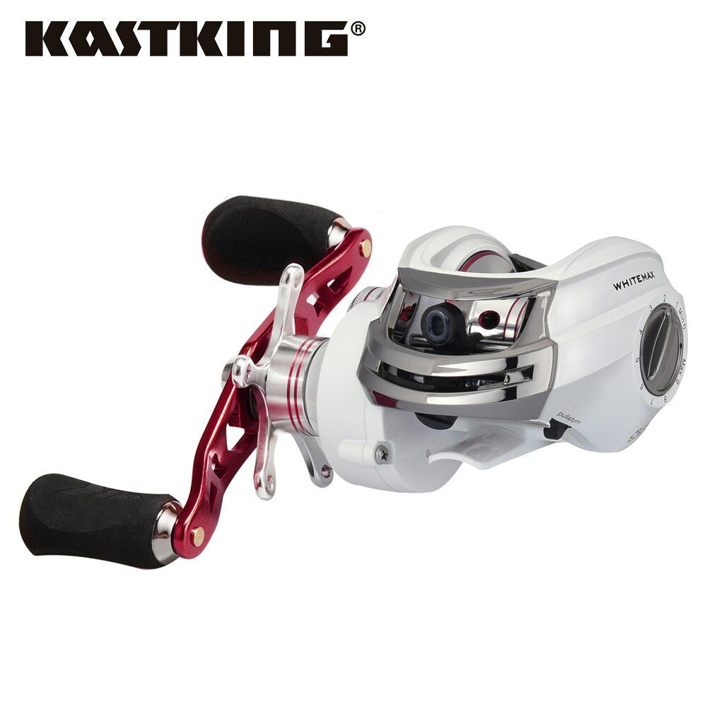 KastKing Whitemax Low Profile 5.3:1 Gear Ratio Baitcasting Reel 8KG Drag Bait Casting Fishing Reel for Lake River Fishing