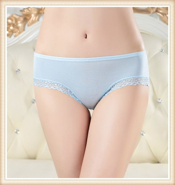 60pcs Factory Price!Women's menstrual period cosy no trace Panties Ladies' soft Modal Lace Briefs seamless Knickers Freeshipping