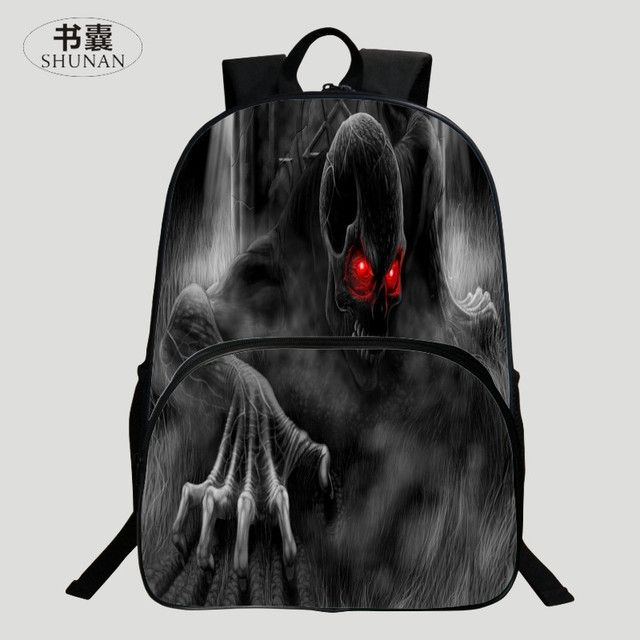 HENGFEI Brand Hot Sale Oxford 16-Inch Prints Black Cartoon Boys School Bags for Teenage Schoolbag for Children Backpacks for Man