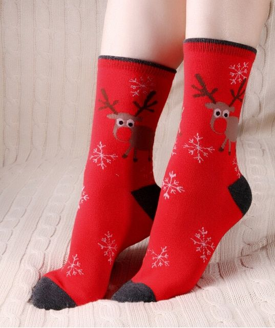 10 pairs Cotton Women Female Socks Christmas Sock Gift Girls Winter Autumn Socks New Year Gift High Quality