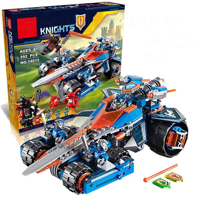 2017 New LEPIN 14012 Knights Clay's Rumble Blade Building Bricks Blocks Set Toys Compatible 70315 Nexus Knights