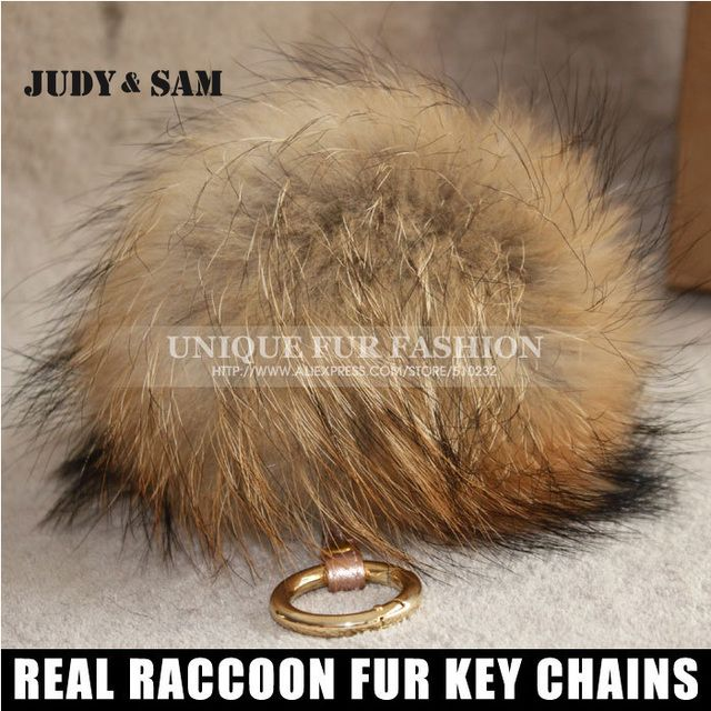 2017 Brand New Design Charm Bag Real Raccoon Fur Pom Accessories Chain Mixed Colors Big Size Ball Bag Accessories Keychain Fur