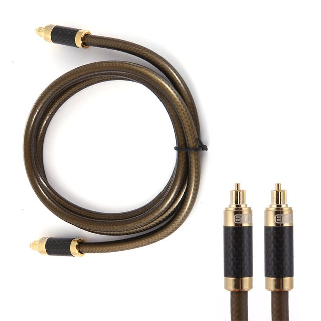 Top Quality 1.5 M Digital Optical Audio Cable Alloy shell plug Fiber Optic Cable OD8.0 Toslink Cable for CD D/A Converters