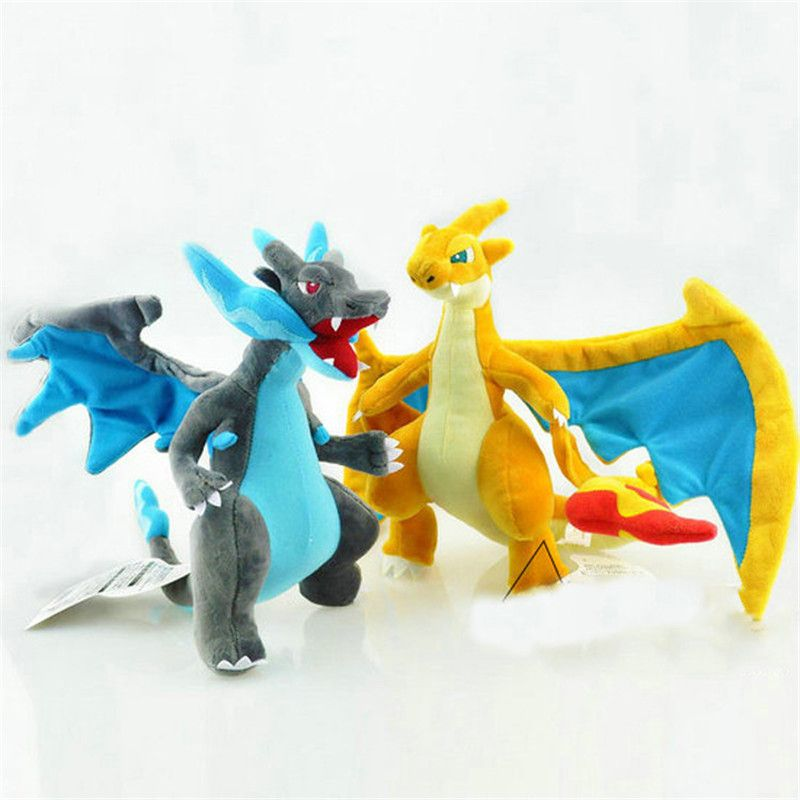 25CM Anime Figure Charizard Plush Dolls Mega evolution XY Charizard Soft Stuffed Animals Plush Doll Kids Children Christmas Gift