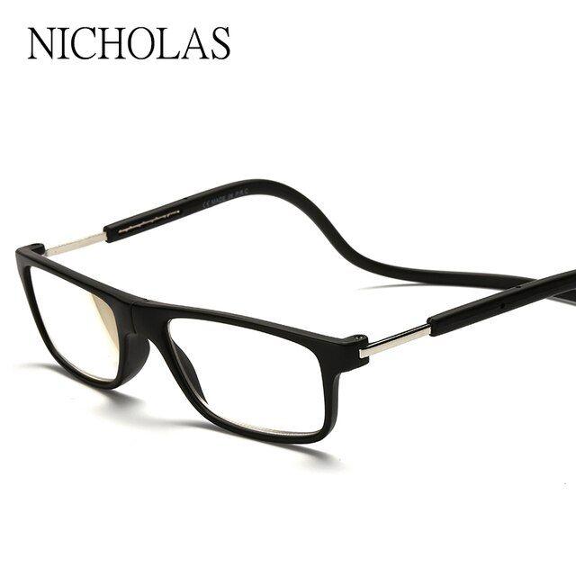 2016 Magnetic Reading Glasses Men Women Hanging Neck Folding Glasses Magnetic Eyeglass magnet Eyewear Gafas De Lectura leesbril