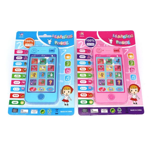 1 Pc Child English Russian Electronic Toy Phone For Kids Baby Mobile phone Educational Learning Toys Music Machine Toy For Child