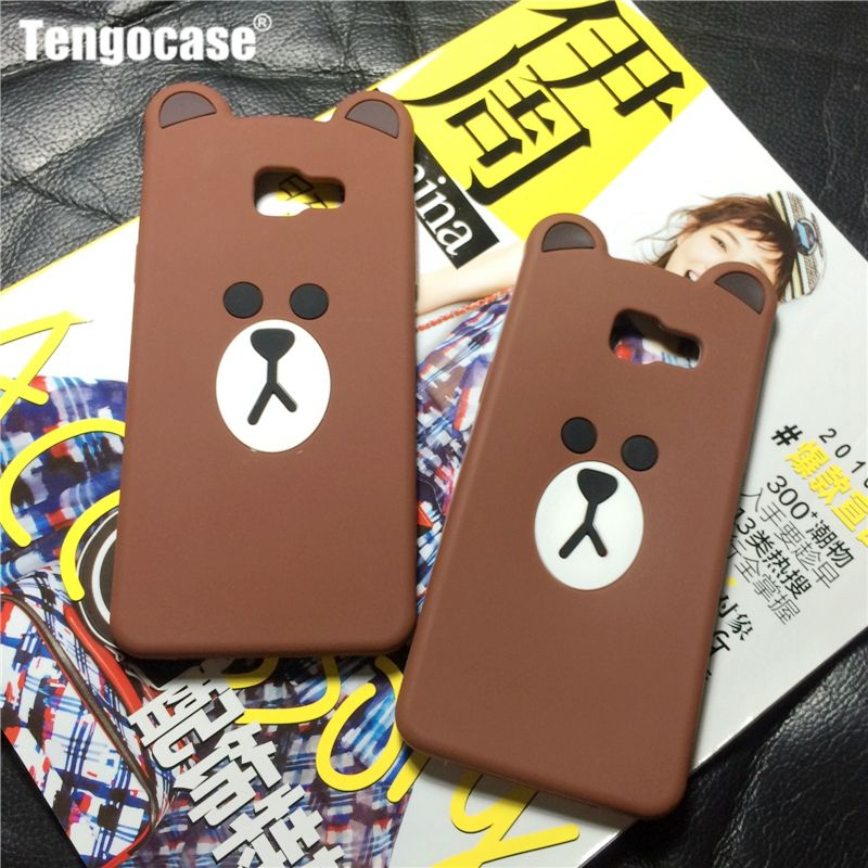 3d cute cartoon bear slim cover case for Samsung Galaxy A3 A5 A7 2016 A510 A710 J1 J2 J7 prime J5 2016 J3 J7 pro 2017 J530 J730