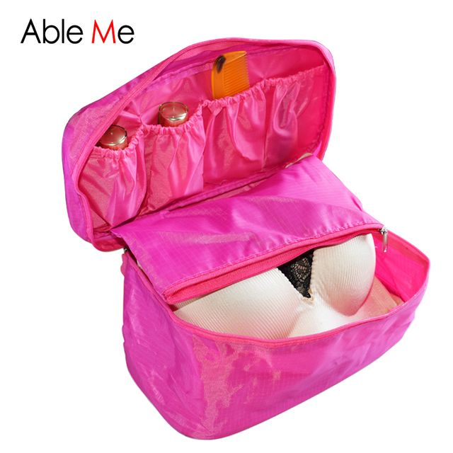 5pcs Necessaire Women Pochette Maquillage Portable Bra Underwear Cosmetic Makeup Toiletry Wash Case Girl's Travel Organizer Bag