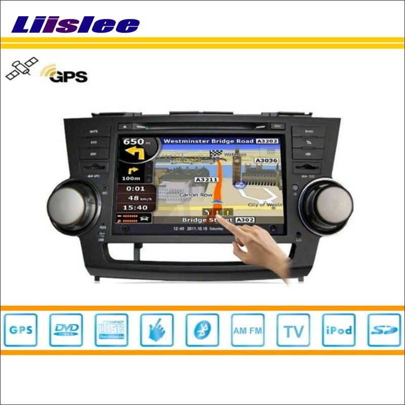 Liislee Car Multimedia System For Toyota Kluger 2007~2013 Radio CD DVD Player GPS Satellite Nav Navi Navigation HD Touch Screen