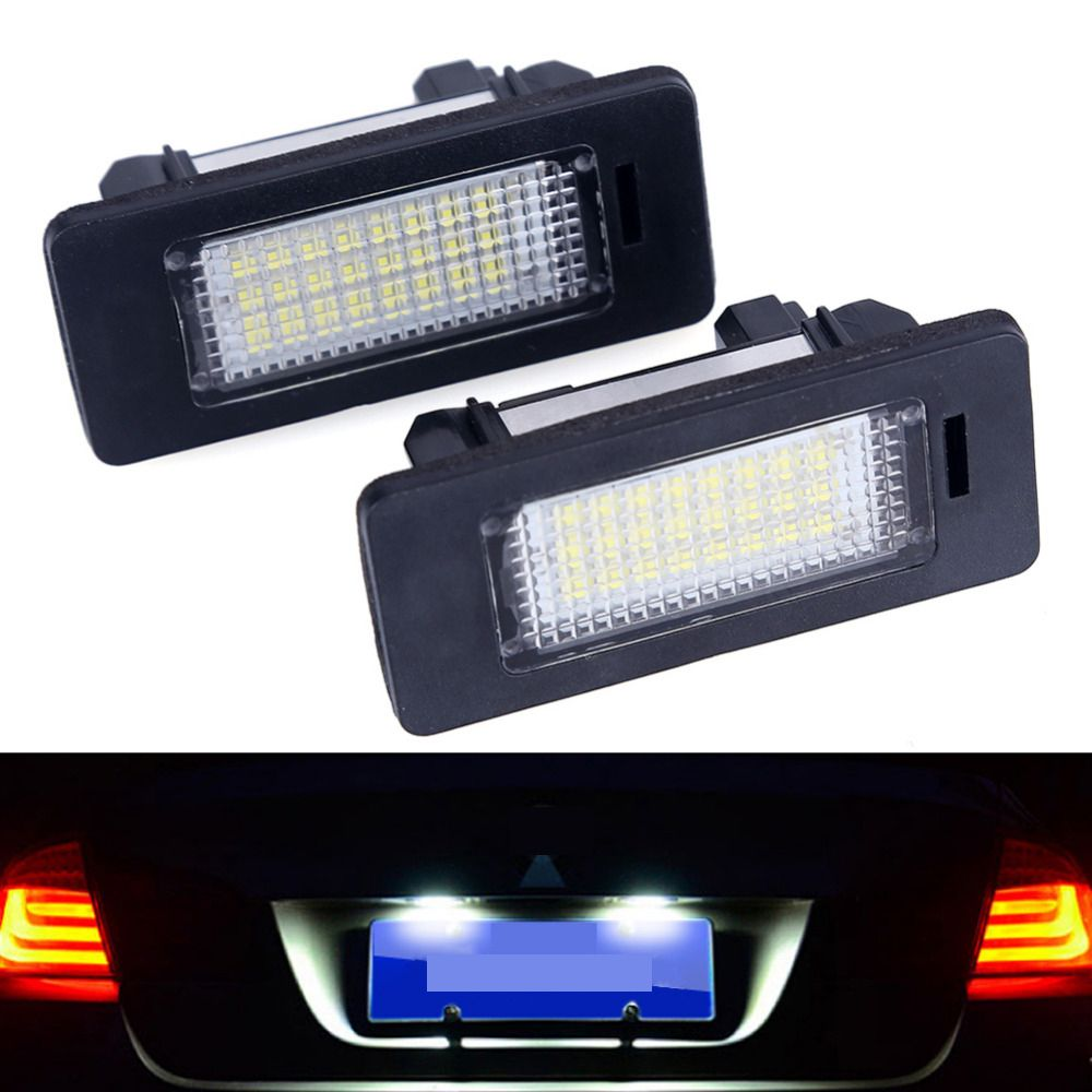 2pcs car led license plate led light lamp 12v White 6000K For bmw e60 E82 E90 E92 E93 M3 E39 E60 E70 X5  E39 E60 E61 M5  E88