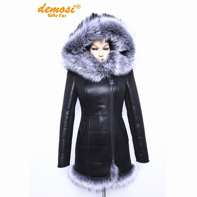 2017 Factory direct supplier Artificial fox fur fashion big yards thick Hooded women coat new 7XL thick winter Faux Suede jacket