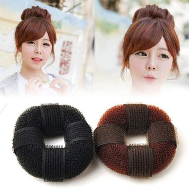 Hot Sale 1 pcs Fashion Women Magic Blonde Donut Hair Ring Bun Former Shaper Hair Styler Maker Tool accesorios cabello