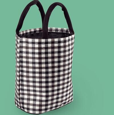 Portable Thermal Insulated Lunch Bag Designer Lattice Lunchbox Storage Bag Concise Ladies Carry Cooler Picnic Food Tote