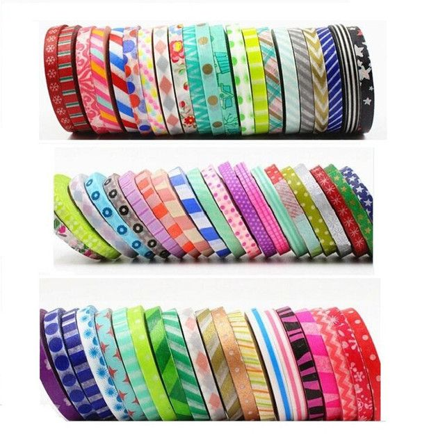 12pcs, 5mm x 10m, Deco tape Scrapbooking decorative washi tape Flower Print masking tape sticker