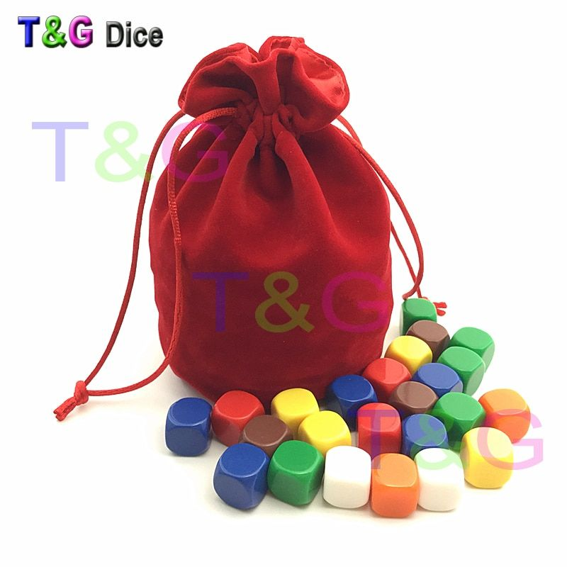 TOP Quality Dice Jewelry Packing Velvet bag 6*5.5 Drawstring & Pouches for packing gift 3 colors Board Game