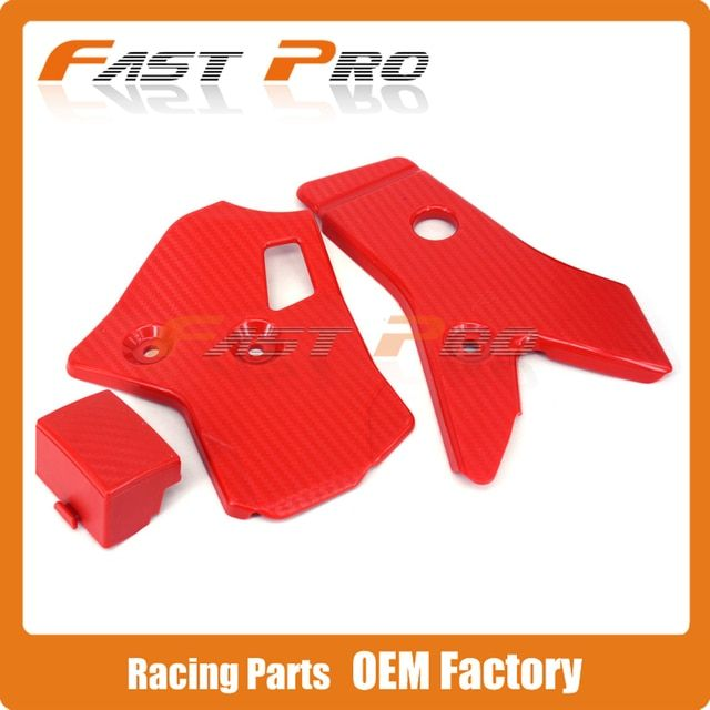 Plastic Red Black Frame Guards Protection for Honda CRF250L CRF250M 12 13 14 15  Dirt Bike MX Enduro Trail