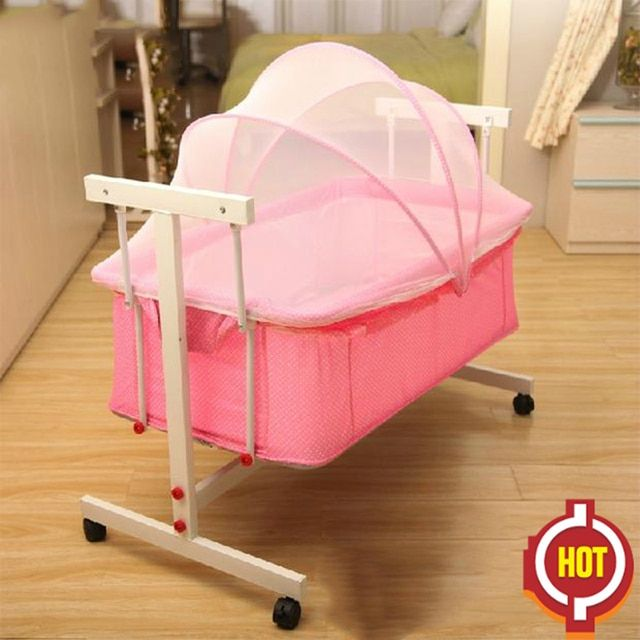2018 Cribs For Twins Babies Kids Sleeping Bags Pillow Baby Cradle Bed Newborn Small Concentretor Crib Hanging Basket Sleeping