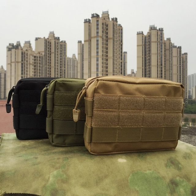 B21 Outdoor molle sub-package camouflage tactical pockets handbags military accessories annex commuter package EDC tools bag