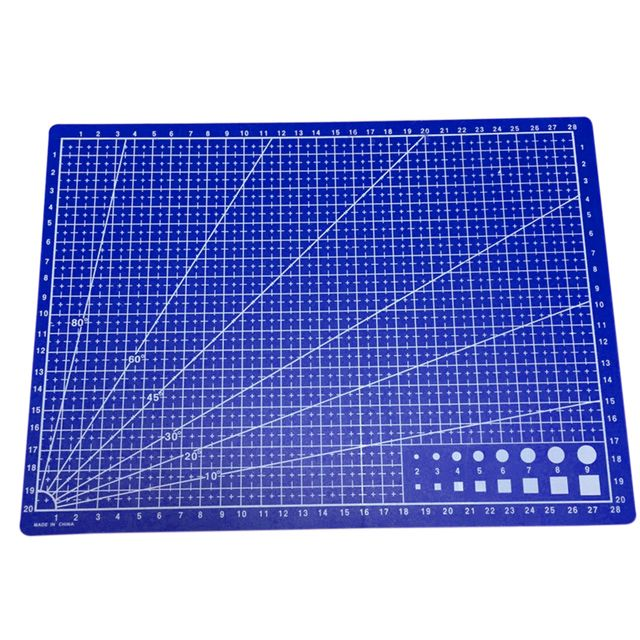 A4 Grid Lines Cutting Mat Craft Card Fabric Leather Paper Board 30*22cm