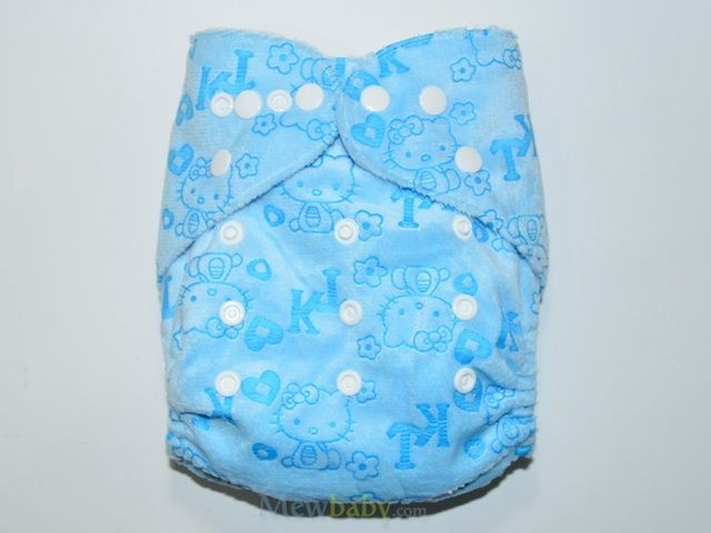 Christmas gifts Cartton cat printed cloth diaper waterproof PUL minky material cloth diaper with 1 piece microfiber insert