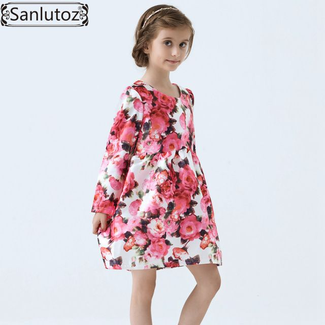 Girls Dress Winter Children Clothing Brand Kids Clothes Party Flower Dress for Princess Holiday Spring Wedding Baby Toddler