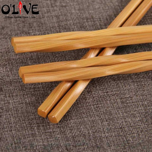 5 Pairs Food Sticks Chinese Chopsticks Bamboo 24 CM Japanese Chopstick Reusable Chop Sticks Kitchen Dining Tableware Utensils