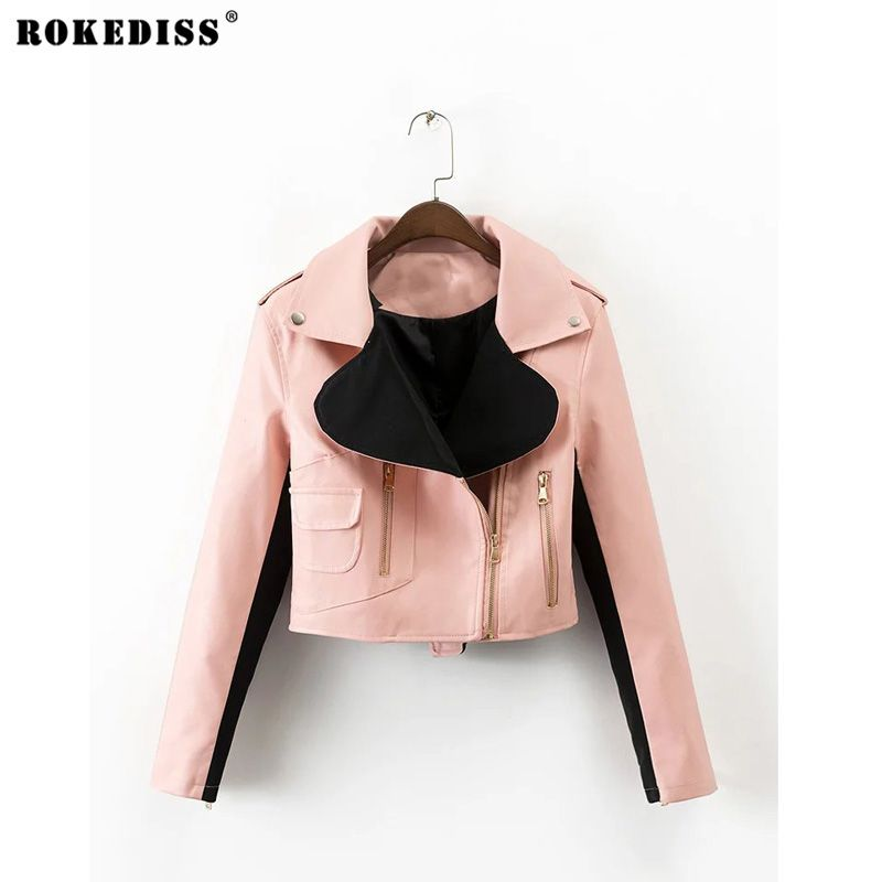 ROKEDISS PU Jacket / Vest Women Soft tatical Leather Jacket / vest waistcoat Rivet colete female Biker X030