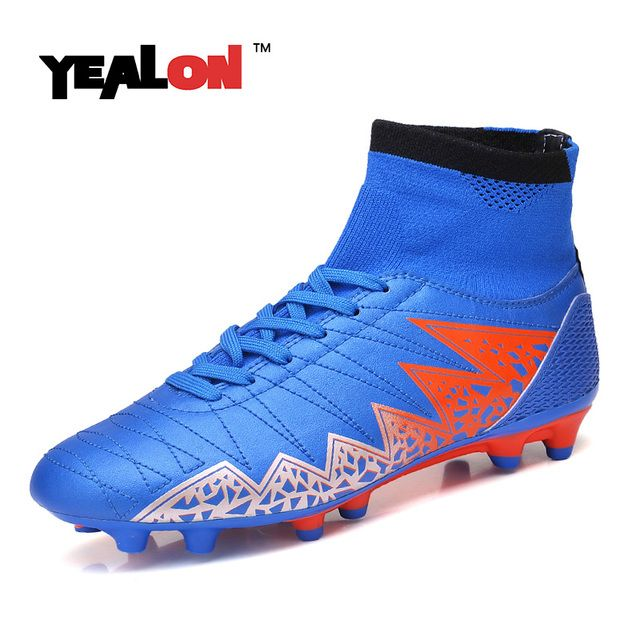YEALON High Ankle Football Boots Men Soccer Shoes Football Boots Football Boots Superfly Original Soccer 2017 Soccer Cleats