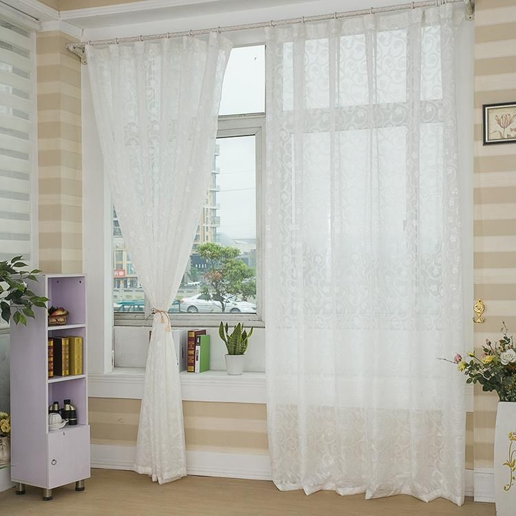 NAPEARL Beautiful princess quality jacquard window screening tulle finished product panel curtains