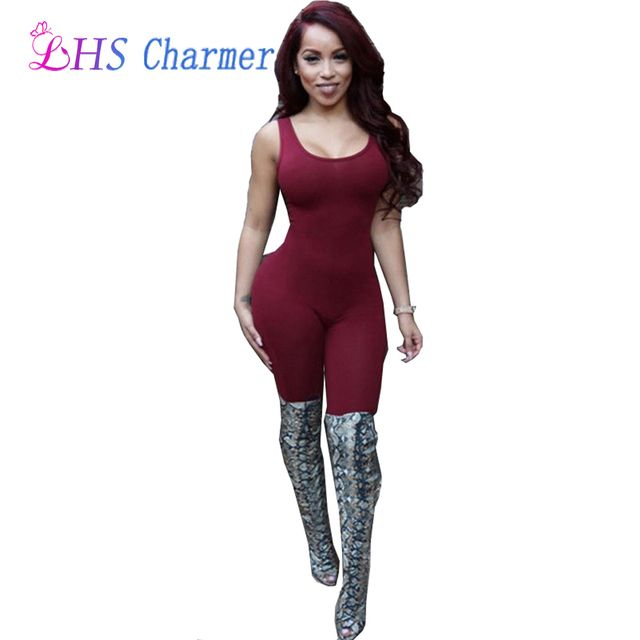 1X Sexy Backless Club Jumpsuits Women's Bandage Jumpsuits Bodysuit Bodycon Party Clothing Clothes
