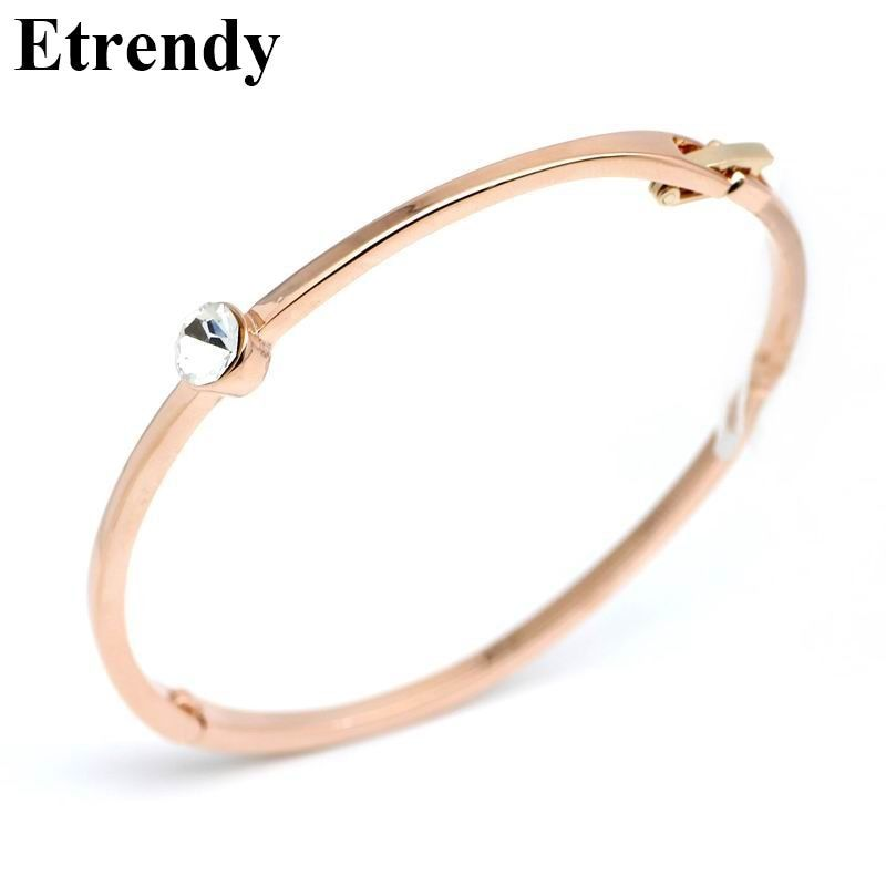 Classic Bracelets & Bangles For Women Rose Gold Color AAA Zirconia Bracelet Jewelry Fashion Bijoux Gifts For Mother All Match