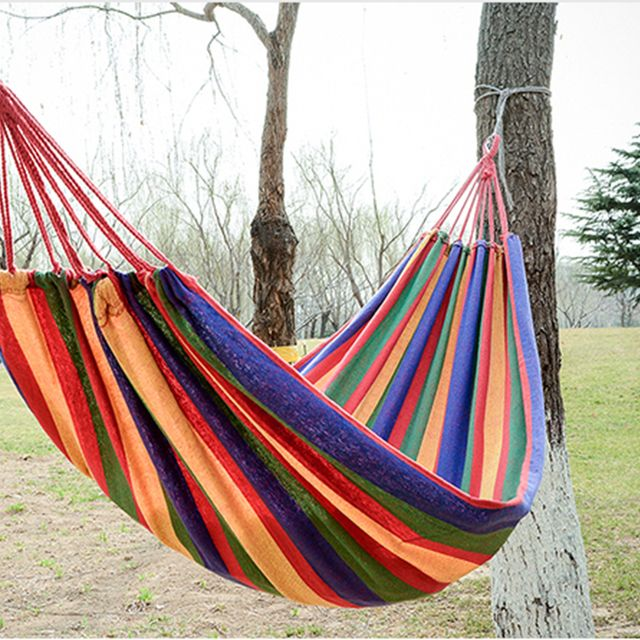 fashion travel hammock  individual  Thickening canvas hammock outdoor Leisure and camping hammock Send Bangsheng Hotei