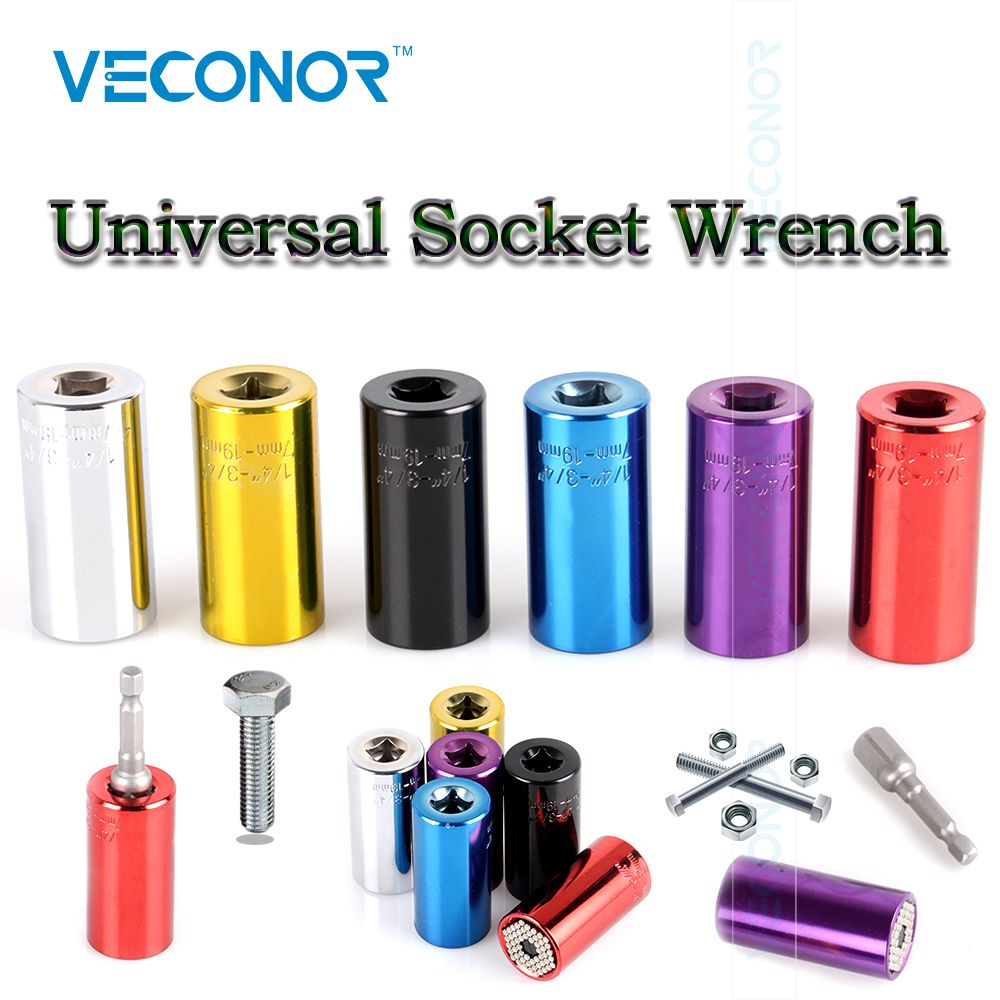 "Mutilple Colors Universal 3/8"" Socket Wrench 7~19mm Multifunctional Socket Adaptor Power Drill Adaptor"