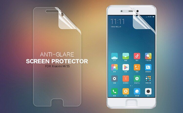 Original NILLKIN Matte Scratch-resistant Protective Film For Xiaomi Mi5S Screen protector,For Xiaomi Mi5S case