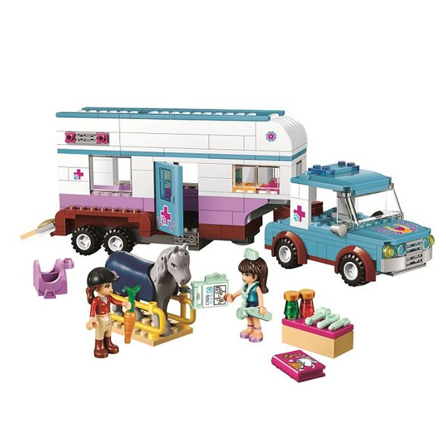 10561 Girl Friends Animal ambulance Building Blocks Figures Bricks Toys Compatible Lepin  Educational Assembled Bricks Kids