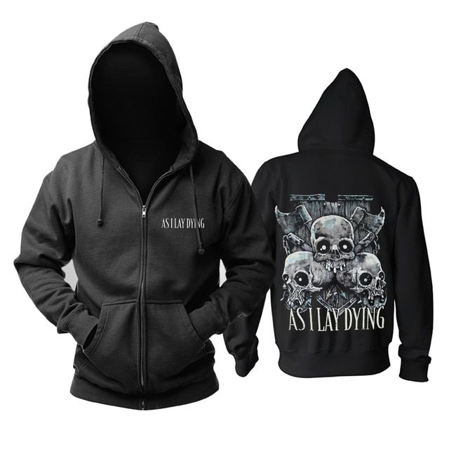 13 designs As I Lay Dying Rock Cotton Sweatshirt hoodies fleece jacket brand punk death heavy metal Skull axe sudadera tracksuit