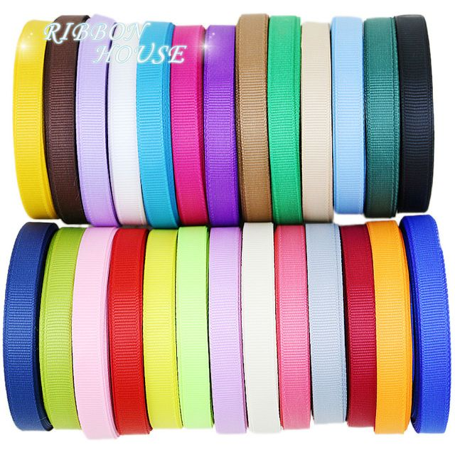 (10 meters/lot) Grosgrain Ribbon Wholesale gift wrap decoration Christmas ribbons (10/12/15/20MM)