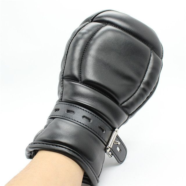 2017 Sex Products Fetish Sex Bondage Padded Fist Mitts For Play Slave Mittens, Protective Gloves Toys For Woman ,adult Games
