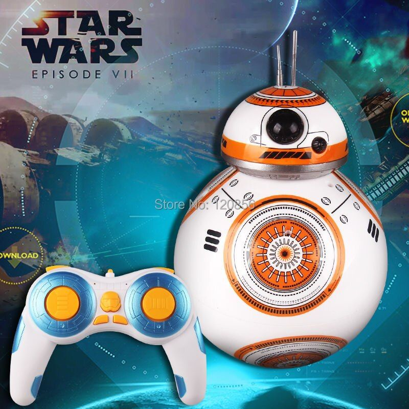 Upgrade Star Wars RC BB Robot Star Wars 2.4G remote control BB robot Action Figure Robot Intelligent Ball Toys For Children