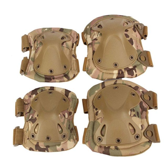 Military Tactical Protective Knee Pad Elbow Support Airsoft Paintball Combat Knee Hunting Skate Scooter Kneepads Sports Safety
