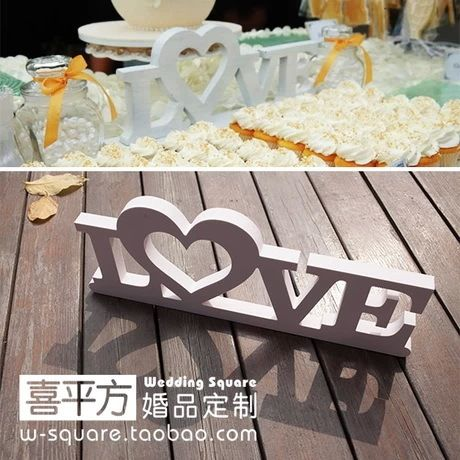 Wedding Big Size LOVE Photographic background Stereo White LOVE Letters Wedding Party Props 30*12 CM Home Decor Accessory