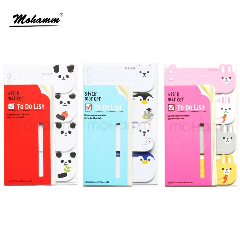 Kawaii Cute Animal Panda Planner Stickers  Scrapbooking Memo Pad Office School Supplies Paper Stationery