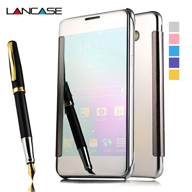 For Samsung Galaxy A5 2017 Case Smart Window Mirror Cover For Samsung A5 2017 Case For Samsung A5 2016 S5 S6 S7 Edge S8 S9 Case