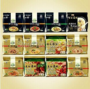 Chinese food not Fried instant noodle instant noodles 12 taste combination 12 small bags Tomato beef brisket,Kelp sparerib