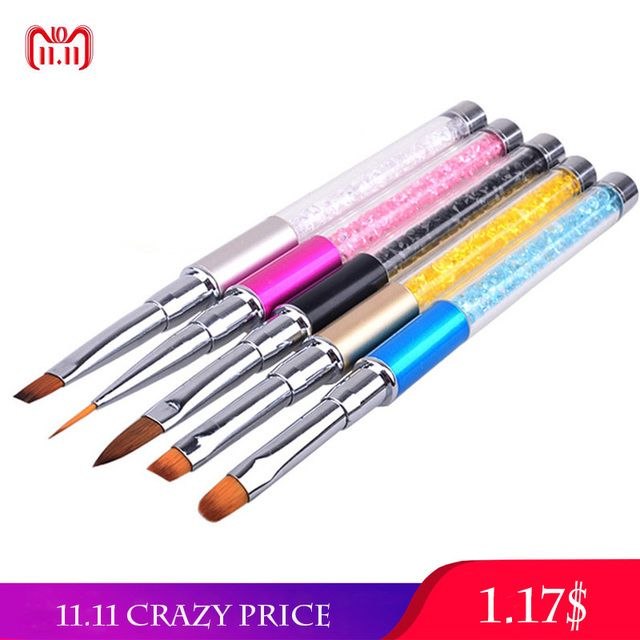 Nail Art Nail Brush Gel Varnish Painting Drawing Lines Pen Design Nail Brushes For Manicure Nails Tips Acrylic Accessories New