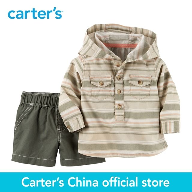 Carter's 2pcs baby children kids Shirt & Short Set 127G137,sold by Carter's China official store